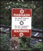 Track warning sign